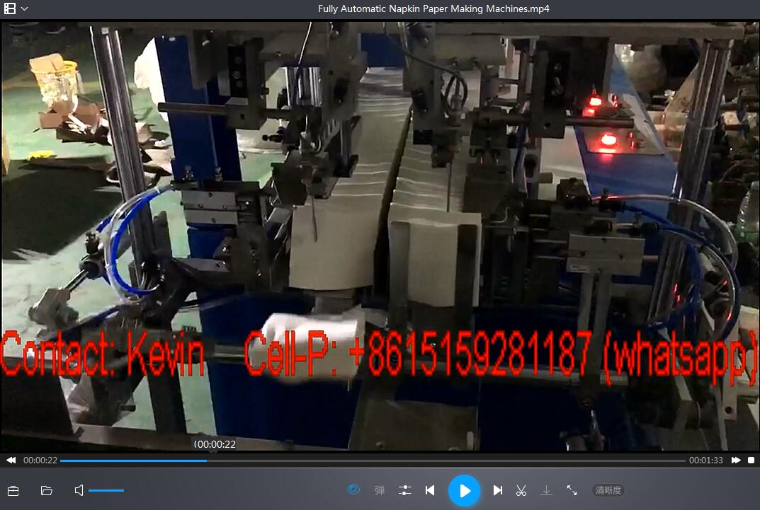 Automatic Napkin Tissue Paper Making Machine–470mm—MCA120: