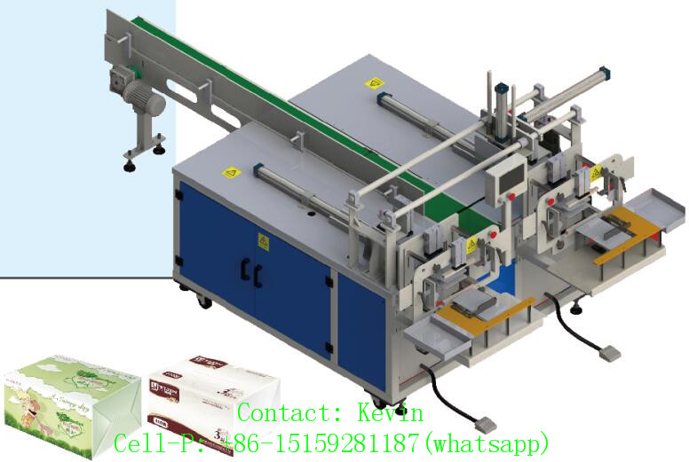 Double Head Tissue Paper Packing Machine-Two Head-One Piece — Semi Auto — 011AB