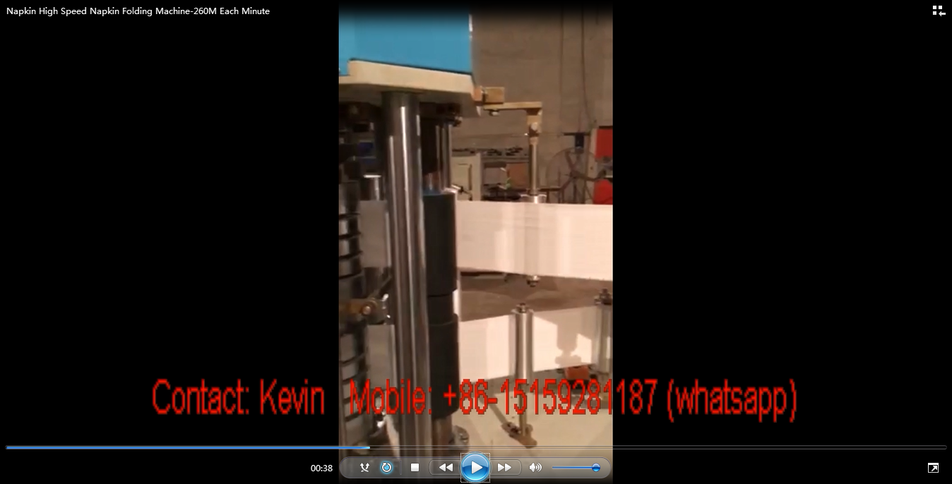 Napkin Tissue Paper High Speed Napkin Folding Machine-800-1000 folds Meter Each Minute, 1000 Pieces each line—MCA470-2HS