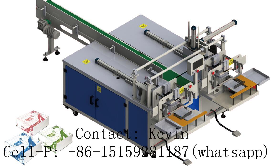 Napkin Paper Machine–Semi Auto-Two Heads — 330AB
