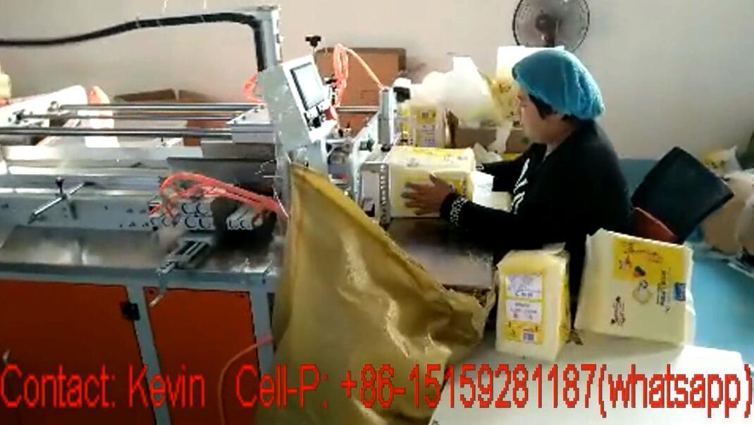Sanitary Napkin Packing Converting Making Machine — Semi Auto — MZ16