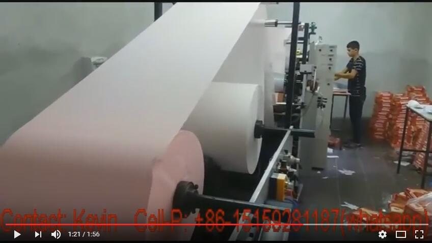 Tissue Paper Making Converting Machine — 1 Ton Per Day, 8 Hours — 3-Lines — MS-180-3L