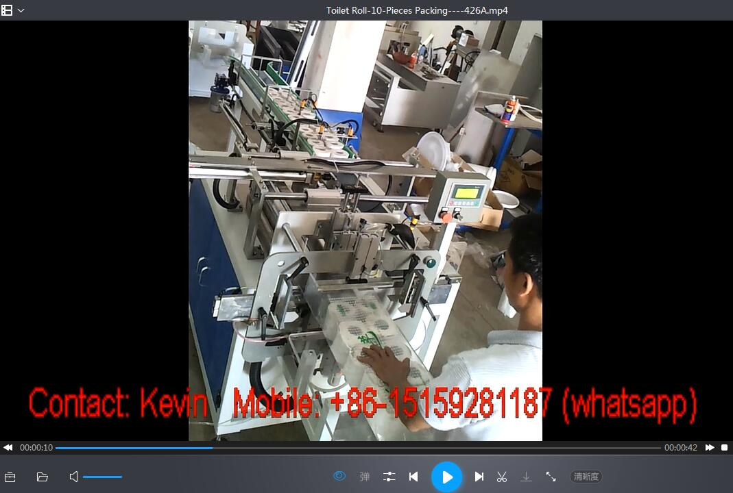 Tissue Paper Packing Converting Machine — One Head-One Piece — Semi Auto — 011A
