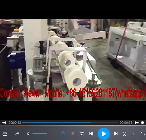 Toilet Paper Roll Cutting Converting Machine-Automated-Band Saw-150 Cuts Max Speed each minute — MS-BS180N